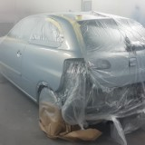 During paint process
